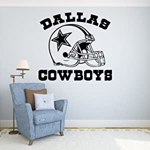 "Dallas Cowboys Vinyl Decal Sticker Wall Football Logo NFL Sport Home Interior Removable Decor (22""high X 24""wide)"