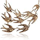 JANE STONE Vintage Swallow Fashion Collar Necklace Bib Statement Jewelry Women