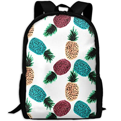 SZYYMM Weirdpineapples Oxford Cloth Casual Unique Backpack, Adjustable Shoulder Strap Storage Bag,Travel/Outdoor Sports/Camping/School For Women And Men low-cost