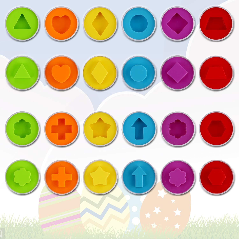 Anleolife Color Shape Matching Egg Set, Preschool Montessori Toys for Toddler Games, Educational Color Recognition Skills Learning by Anleolife (Image #2)