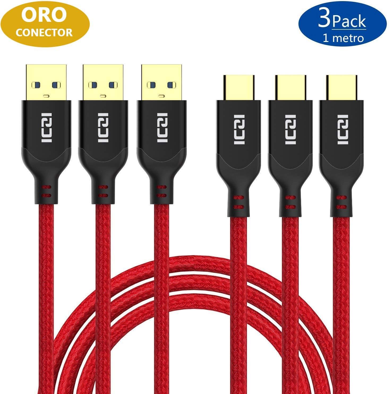 ICZI Cable USB Tipo C a USB 3.0 (3 Pack 1m), Cables Cargador ...