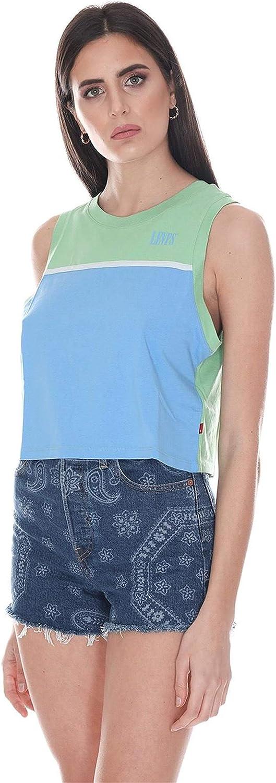 Levis Levis 86345 0000 Celeste Camisetas Y Camisa DE Tirantes Mujer Azzurro S: Amazon.es: Ropa y accesorios
