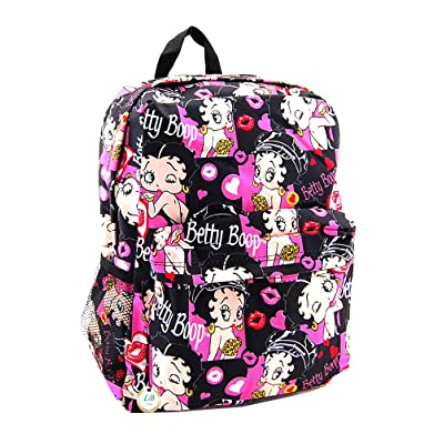 Betty Boop Microfiber Large Backpack with 16 Inches Height (Multi) | Kids' Backpacks
