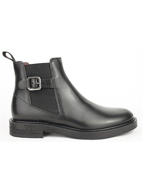 FRAU 96P2 nero scarpe donna stivaletti tronchettI beatles fibbia pelle   Amazon.it  Scarpe e borse 387547fa00a