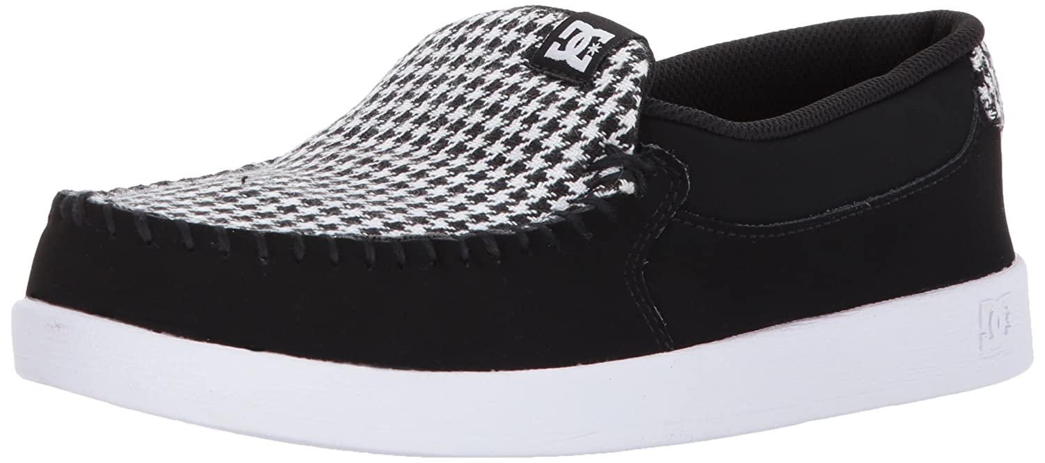 DC Women's Villain SE Slip-on Skate Shoe B06Y5QHNZJ 7.5 B B US|Black/White/Black