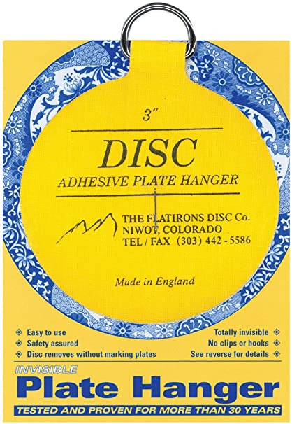 Flatiron Disc Invisible Plate Hanger 3-Inch  sc 1 st  Amazon.com : invisible disc adhesive plate hangers - Pezcame.Com