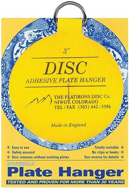 Flatiron Disc Invisible Plate Hanger 3-Inch  sc 1 st  Amazon.com & Amazon.com: Flatiron Disc Invisible Plate Hanger 3-Inch: Home u0026 Kitchen