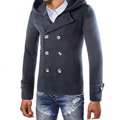 Winterjacke friendGG Mantel Warm Herren Freizeit xBorCeWd