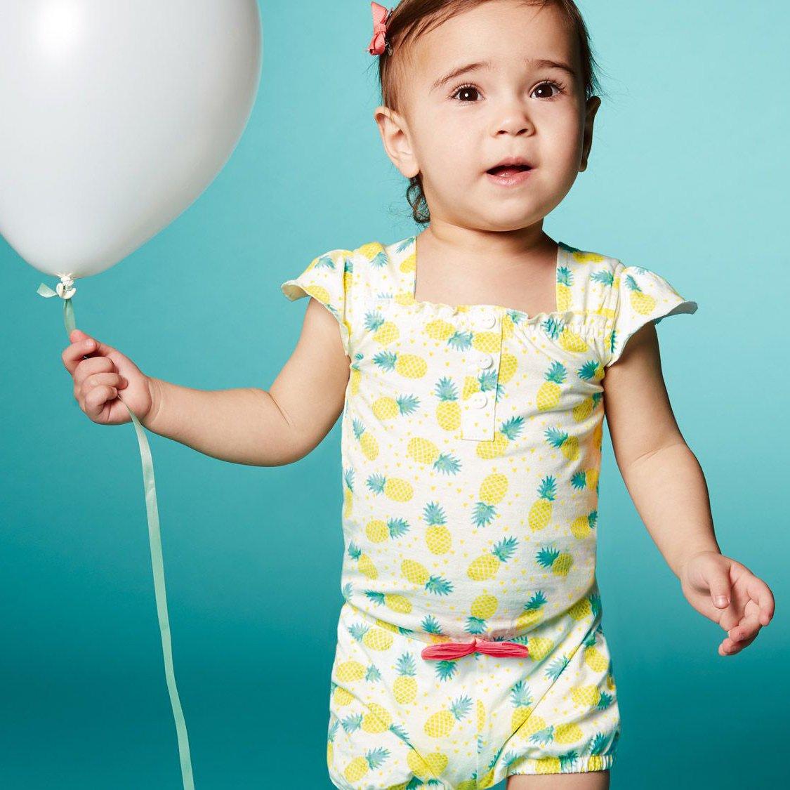 reine Baumwolle lupilu Baby M/ädchen Sommer Body//Kleid