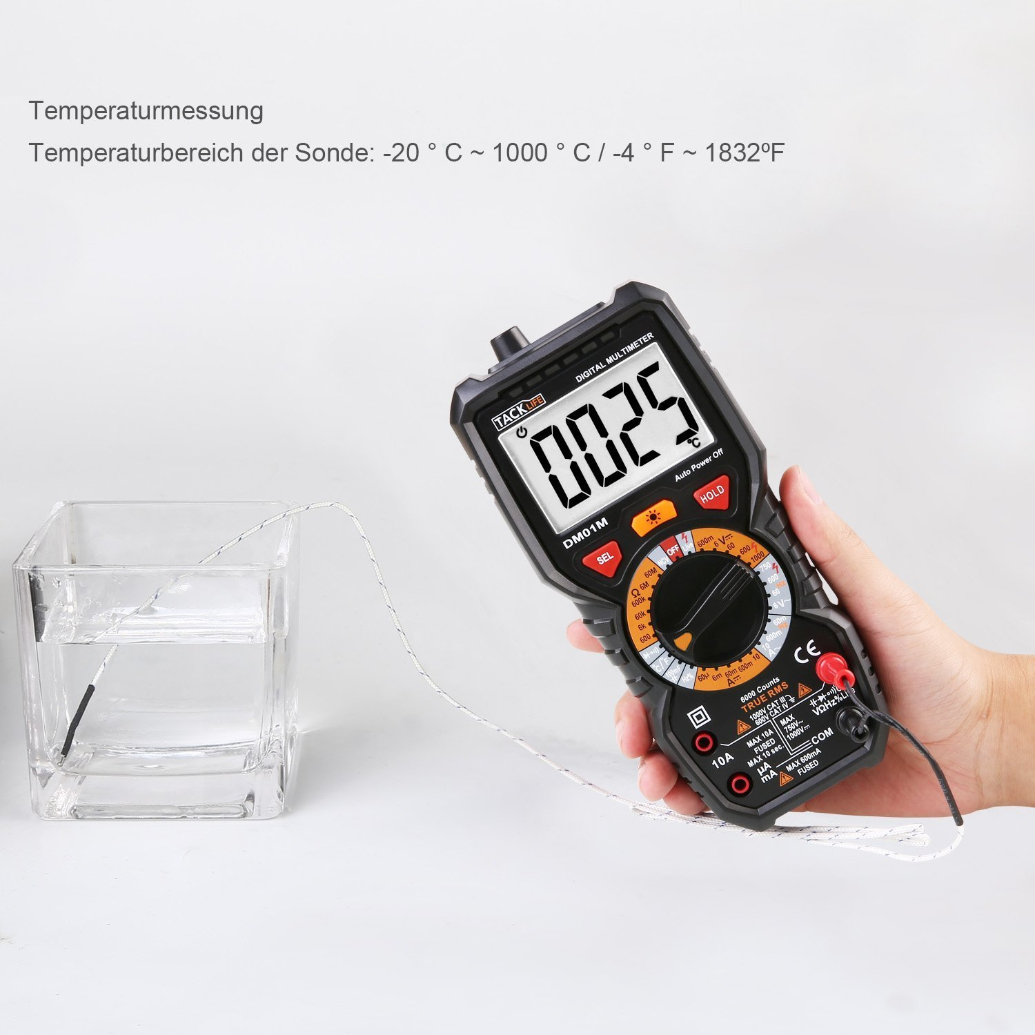 Digital Multimeter, Tacklife DM01M Advanced Multimeter mit 6000 ...