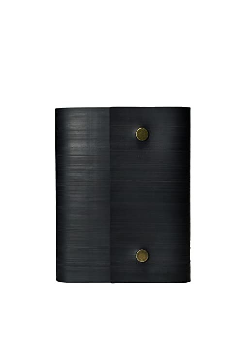 Notebook Journal From Recycled Tires by Streamlet  100% Environmentally  Smart  Handmade with Tire Cover, Vegan Leather Straps, 8x6 Inches, 240  Blank