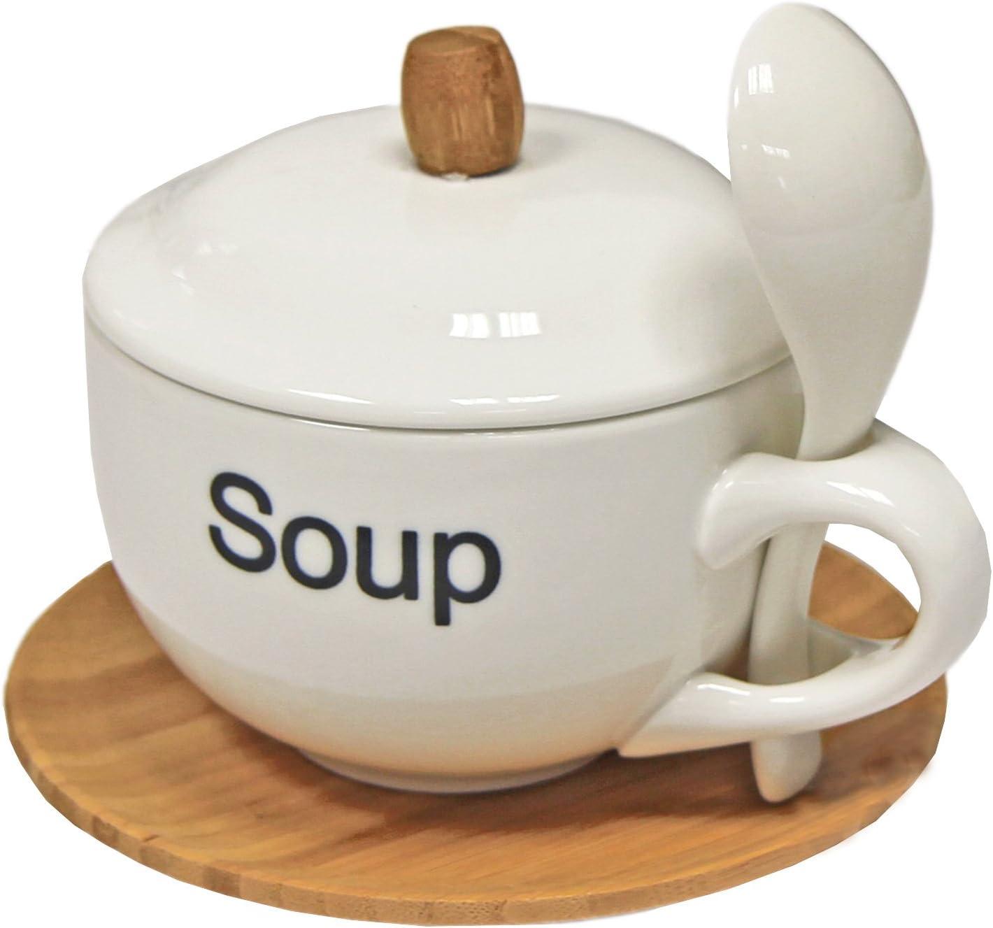 Conjunto de taza y plato redondo blanco contempor/áneo de porcelana LOLAhome