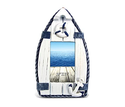 Amazon.com - CoTa Global Nautical Blue Sail Boat Wooden Photo Frame ...