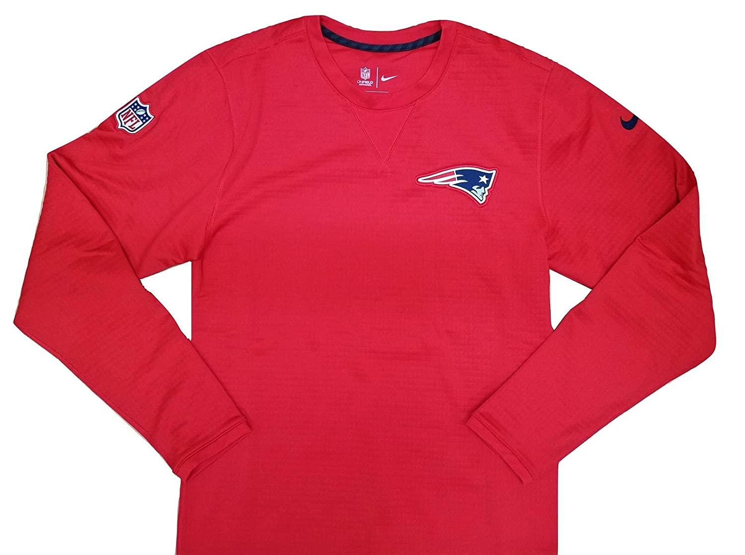 Amazon.com  Nike Men s New England Patriots Onfield Long Sleeve Fleece Tee  87553-657 Team Red (Small)  Home   Kitchen aa4c8fba9