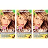 Garnier Nutrisse Nourishing Hair Color Creme, H2 Golden Blonde Highlighting Kit, 3 Count (Packaging May Vary)