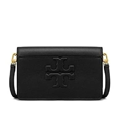 932743189 Tory Burch Bombe T Logo Small Leather Cross Body Bag Black: Handbags:  Amazon.com