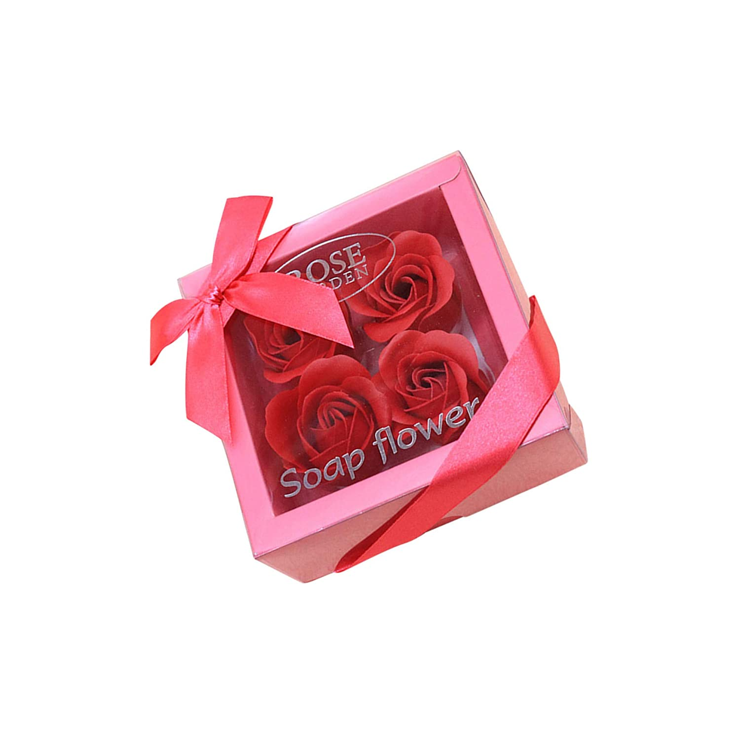 Codiak 20 PCS Soap Rose Flower Floral Scented Bath Rose Flower Guest Soap Shaped Petals Best Gifts for Anniversary//Birthday//Wedding//Valentine/'s Day Box Red