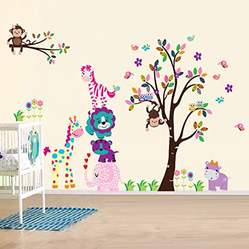 Ay Wand Sticker Aufkleber Papier Kunst Dekoration Fröhliche Tiere