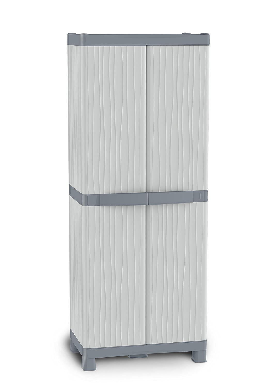 TERRY Base 3700 UW Armadio Alto in Plastica Portascope, Grigio/Tortora, 70 x 43,8 x 181,8 cm Terry Store-Age Spa 1002565
