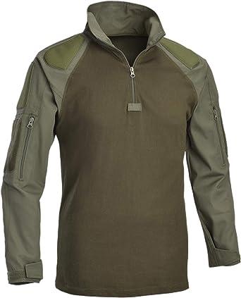 Defcon5 Camisa de Combate con Protectores para Brazos (pequeño, Verde Oliva (OD)): Amazon.es: Ropa y accesorios