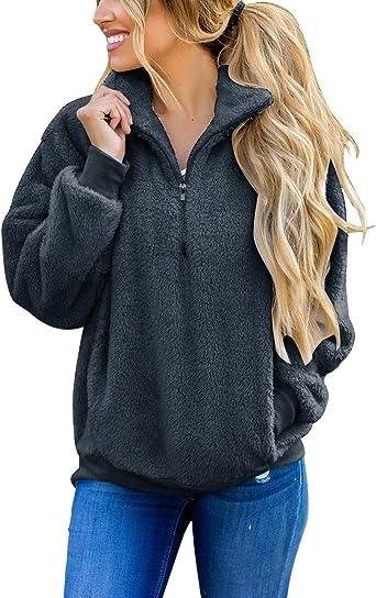 Womens Long Fleece Sun Muscle Womens Long Sleeve Sweatshirt Tops