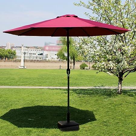 Sombrillas Patio de Mercado Parasol Exterior Jardín Mesa de jardín Protector UV 270cm * 250cm (Color : Iron Pole): Amazon.es: Hogar
