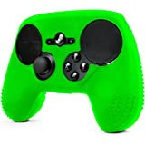 ParticleGrip STUDDED Skin for Steam Controller by Foamy Lizard ® Sweat Free 100% Silicone Skin Cover w/Raised Anti-slip Studs *CONTROLLER NOT INCLUDED* (SKIN, GREEN)