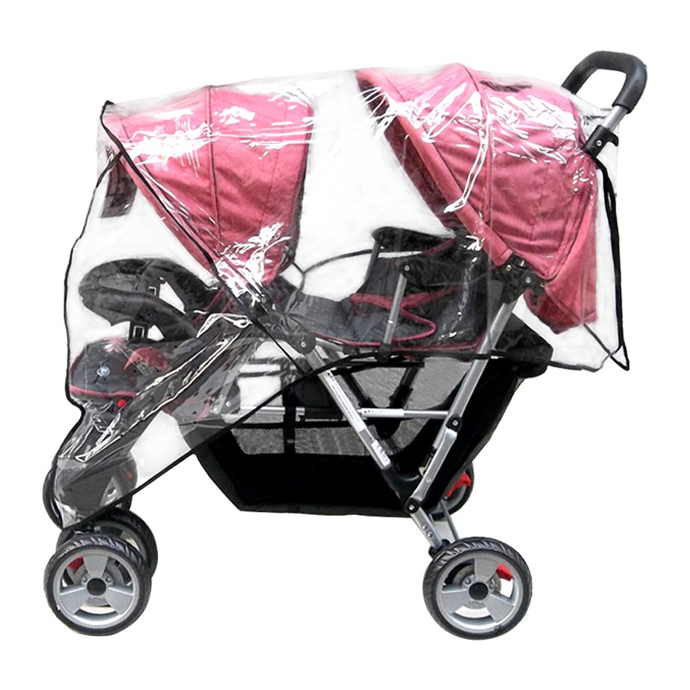 Aligle Weather Shield Double Popular for Swivel Wheel Stroller Universal Size Baby Rain Cover/Wind Shield Deal (Black) by Aligle