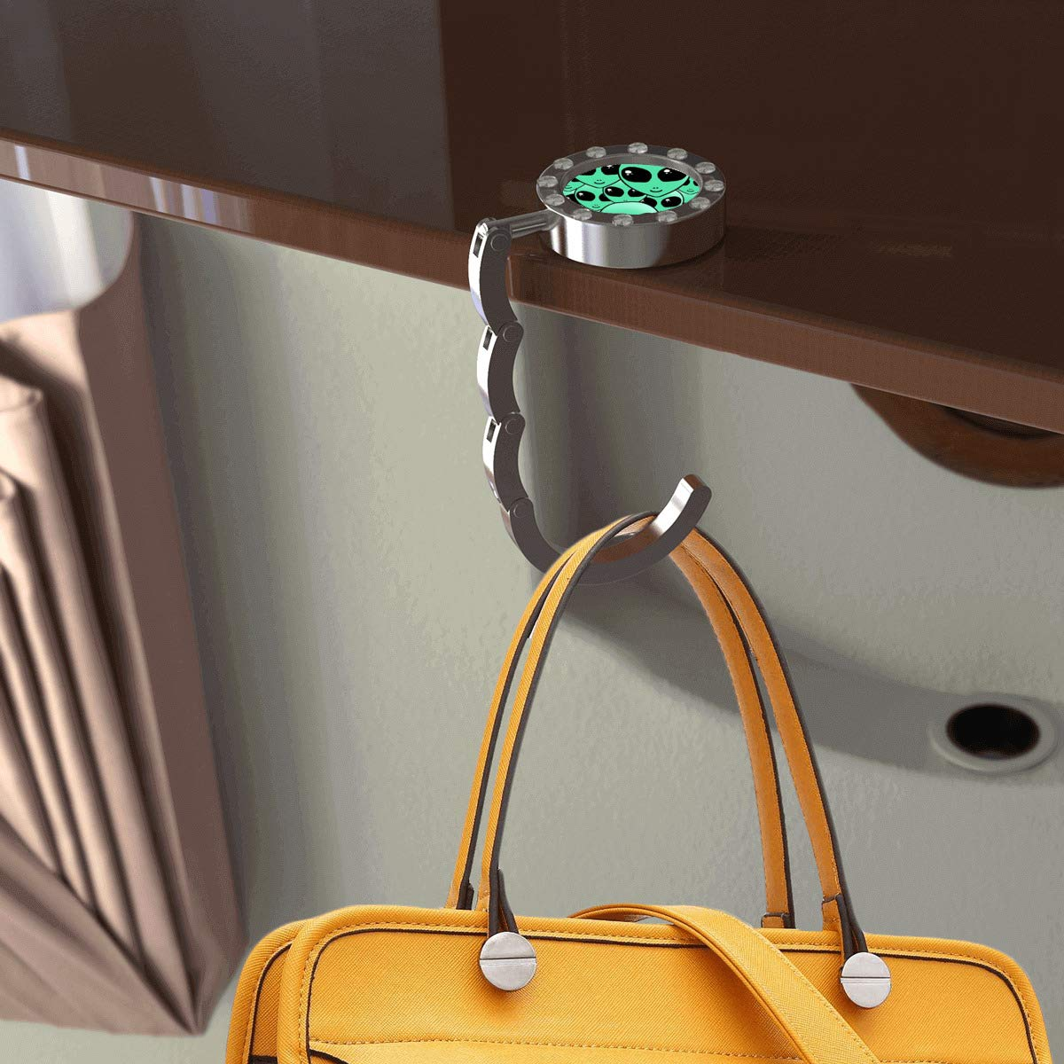 Round with drill Unicorn and Narwhal Bag Hanger for Women Convenient Stylish Suitable for Daily Use of Bag Hanger