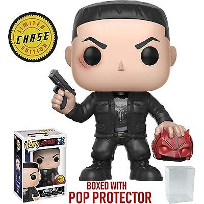 Funko Pop! Marvel: Netflix Daredevil - Punisher CHASE Variant Limited Edition Vinyl Figure (Bundled Pop Box Protector Case): Toys & Games