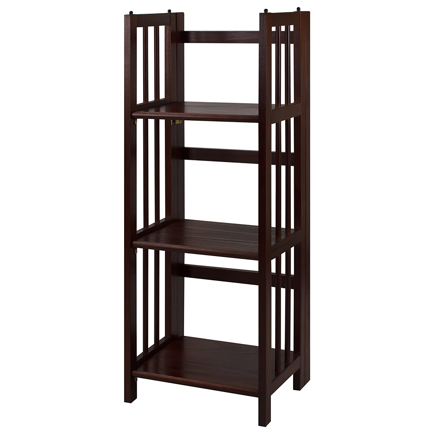 casual home 3 shelf folding bookcase 14 inch wide