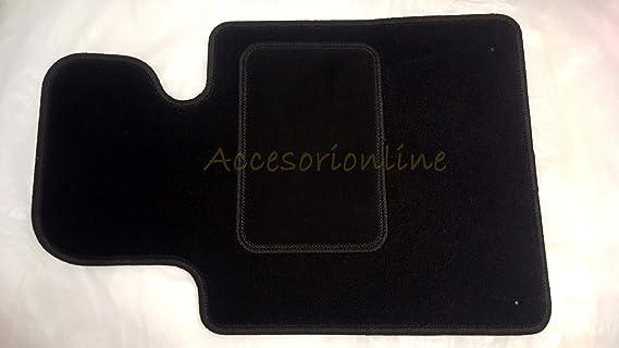 Mossa Alfombrillas de Velour Negro 5902538784993 4 Piezas