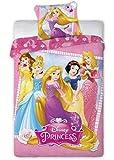Faro Parure de lit Disney Princess pour enfant 140x 200cm (certifié Öko-Tex, Standard 100) 001, coton, multicolore