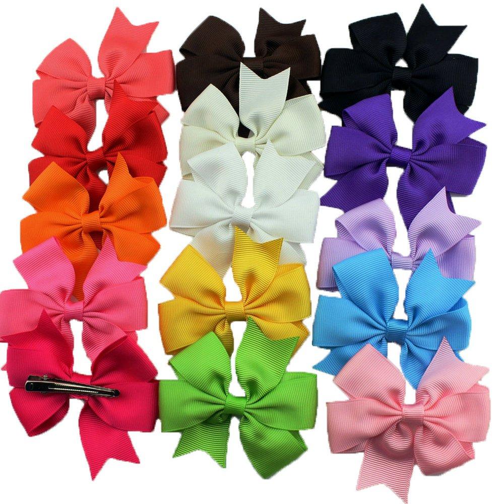 2 pc Assorted Rainbow bow  ponios