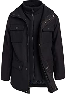 Amazon.com: Urban Republic Boys Wool Officer Jacket with ...