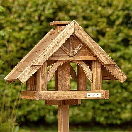 Vogelhaus XL Metall für 4 kg Futter Vogelhäuschen Futterhaus Vogel Futterstation