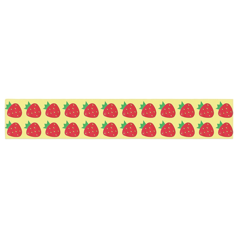 KESS InHouse Jane Smith Seasons Summer Yellow Red Table Runner 16 x 180