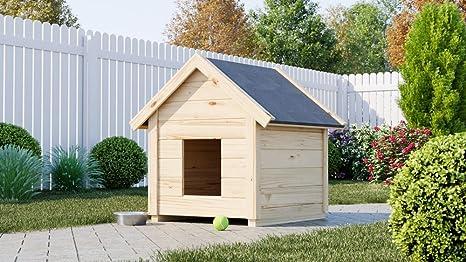 Caseta de madera para perros gartenpro 95 x 65 x 85h