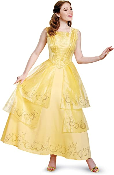 Disney Women\'s Plus Size Belle Ball Gown Prestige Adult Costume