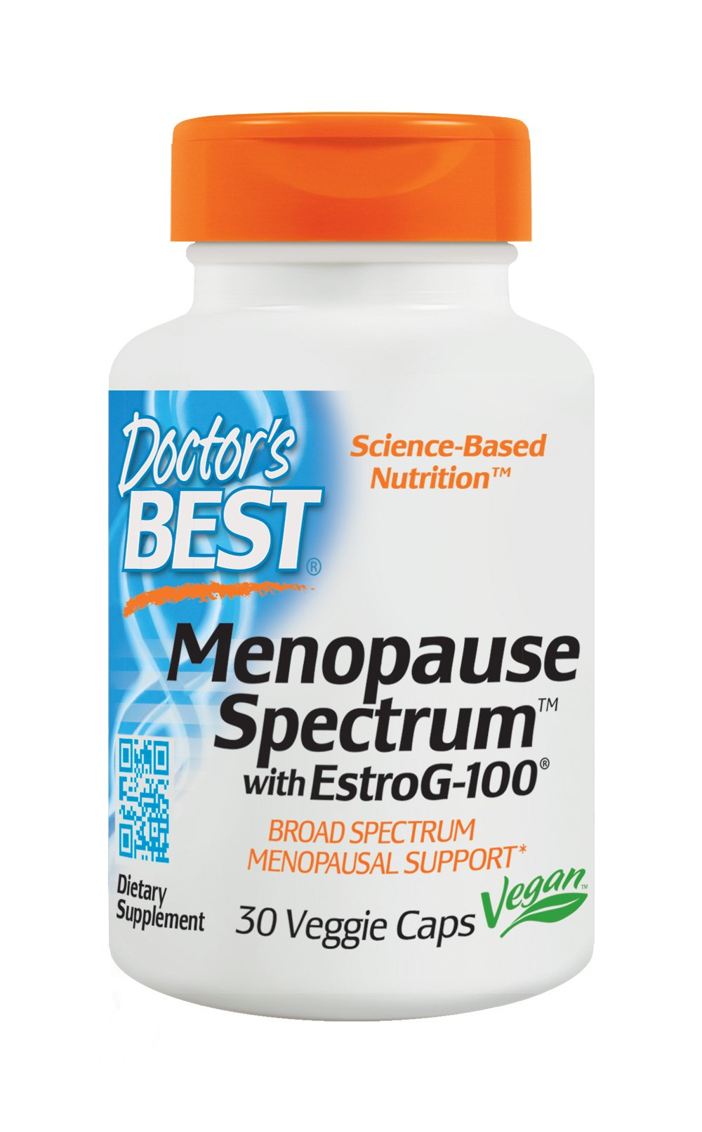 Doctor's Best Menopause Spectrum with EstroG-100, Non-GMO, Vegan, Gluten Free, Soy Free, 30 Veggie Caps by Doctor's Best