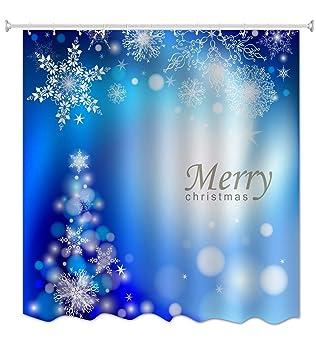 A Monamour Frohe Weihnachten Feiertagsgrusse Thema Blau Bokeh Punkt