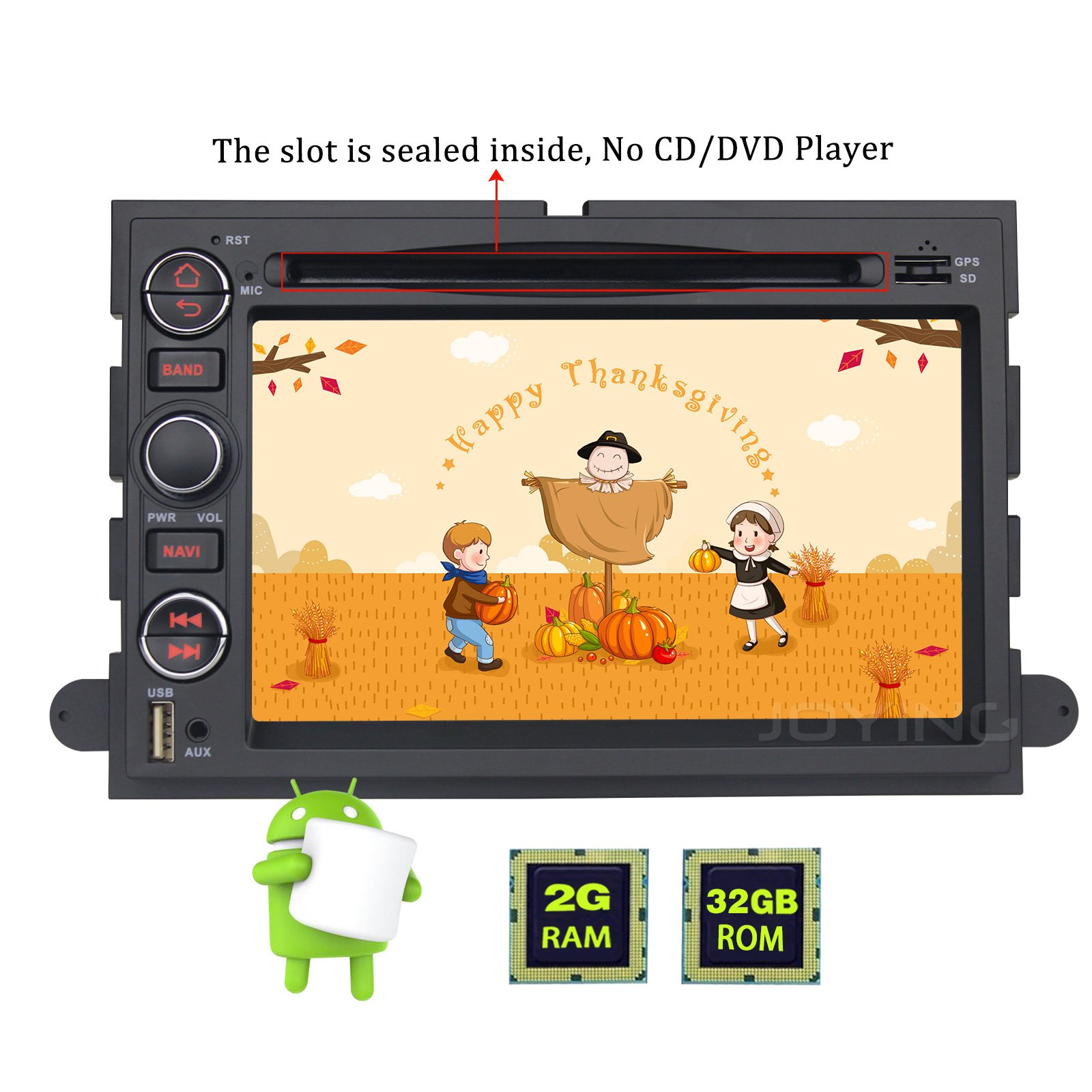 JOYING for Ford Android 6.0 Car Stereo 2004-2008 F-150 2005-2012 F-250 F-350 F-450 F-550 In-Dash Navigation Double 2 Din Head Unit GPS Radio Bluetooth 4.0 by Joying