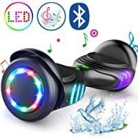 """TOMOLOO Hoverboard Bluetooth LED Lights Two-Wheel Self Balancing Scooter UL2272 Certified, 6.5"""" Wheel Electric Scooter Kids Adult"""