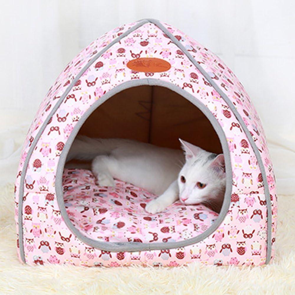 ZhuikunA Cuccia//Letto 2 In 1 Animali Gattino Cucciolo Domestici Portatile E Pieghevole Elegante Cani Gatti Comoda Per Uso In Ambienti Interni Pink S