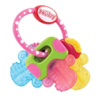 Nuby Ice Gel Teether Keys, 1 pack Pink