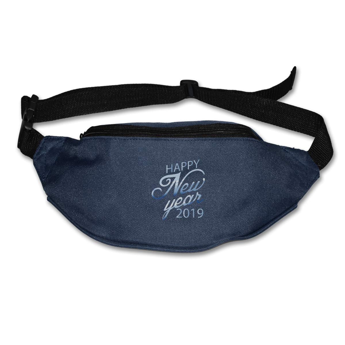 Happy New Years 2019 Sport Waist Pack Fanny Pack Adjustable For Run