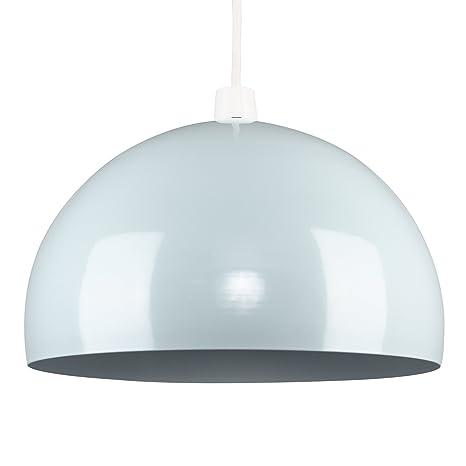 MiniSun - Moderna pantalla de lámpara de techo del afamado estilo arco, de metal, en verde menta brillante en forma de globo