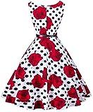 I2CRAZY Womens Boatneck Sleeveless Vintage 1950s