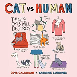 CAT vs HUMAN 2016 Wall Calendar