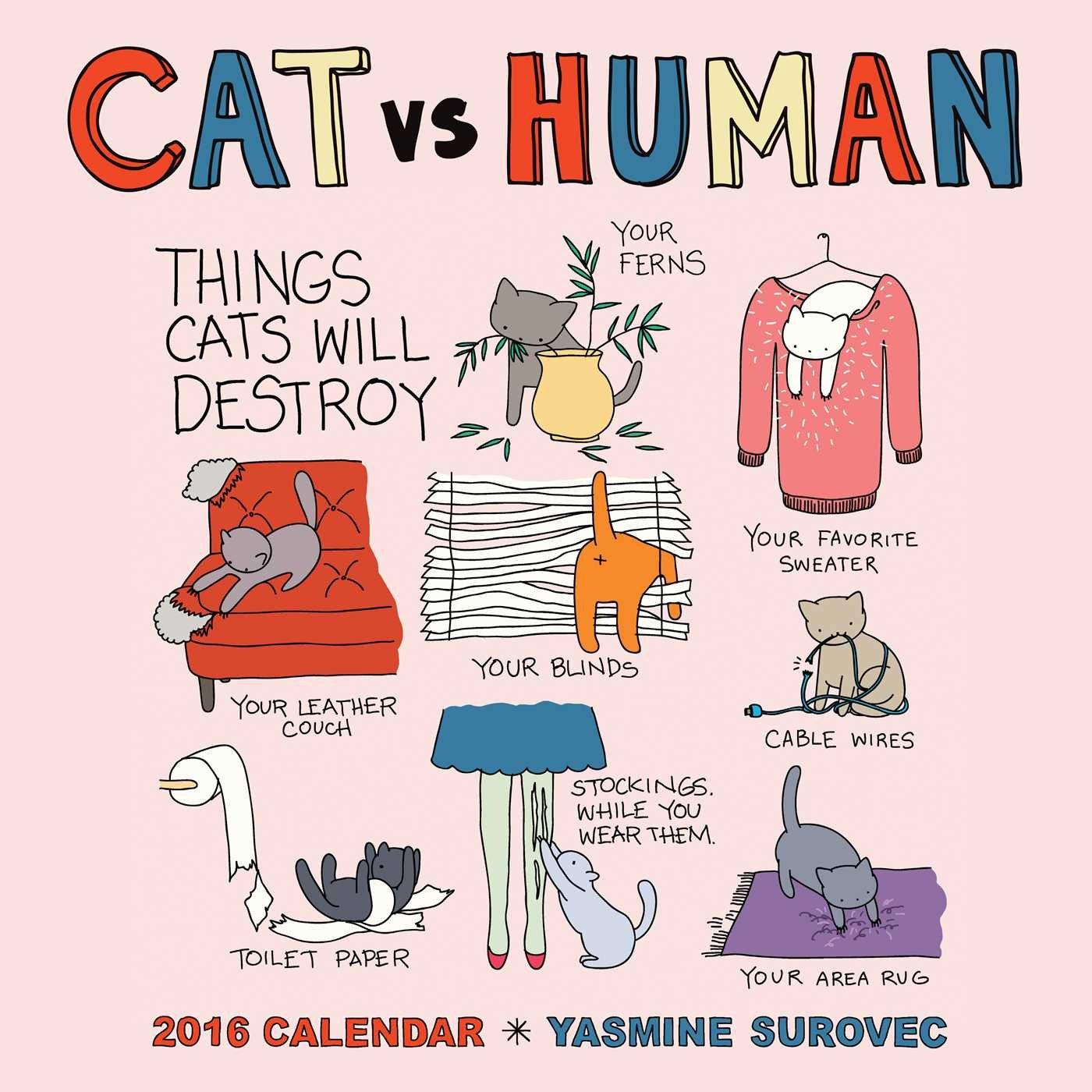 CAT HUMAN 2016 Wall Calendar product image